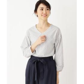DRESKIP ドレスキップ コットンVネックシャツ