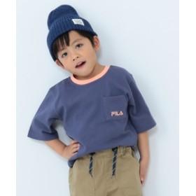 FILA ×BEAMS mini / ビック Tシャツ (90~150㎝) キッズ カットソー NAVY 100