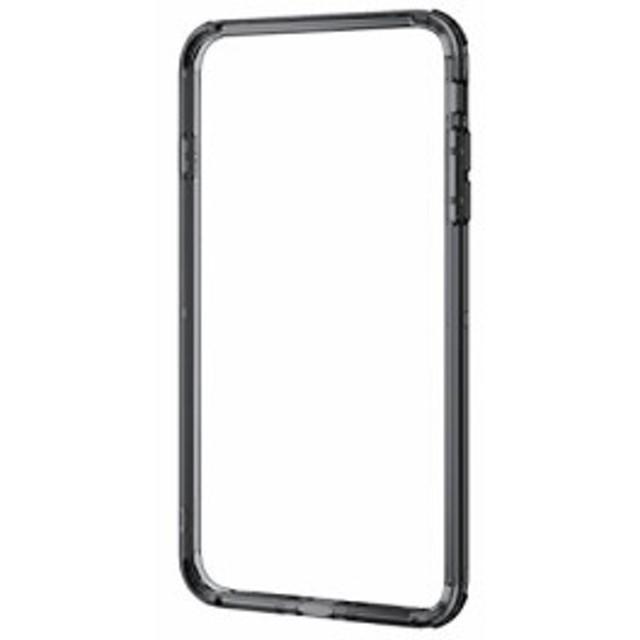 60012e9b91 エレコム iPhone8 Plus ケース カバー バンパー ハイブリッド素材 対衝撃×透明 【端子・ボタン