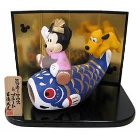 ディズニー ミッキー&プルート 五月人形 鯉乗り(未使用の新古品)