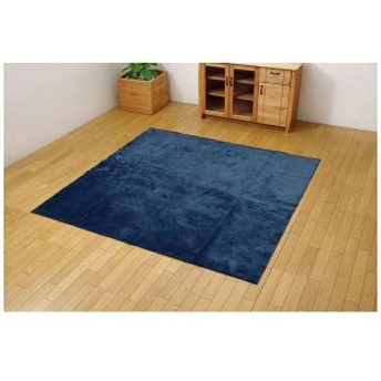 イケヒコ・コーポレーション 3963619 ラグ カーペット 2畳 洗える イーズ ネイビー 約185×185cm