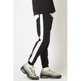 ジョガーパンツ - improves ラインパンツ メンズ レディース スウェット ダンス スキニー スリム サイドライン ジャージ ジョガーパンツ トラックパンツイージーパンツ テーパード ブラック グレー 黒 ストリート系 ストリートファッション カジュアル メンズファッショ