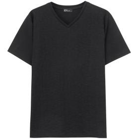 【30%OFF】 マックハウス Real Standard ジャガードTシャツ 92 7209P BJ メンズ ブラック M 【MAC HOUSE】 【タイムセール開催中】