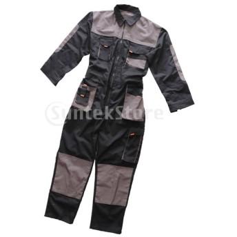 作業服長袖作業ユニフォームつなぎ服全体ガレージジャンプスーツ