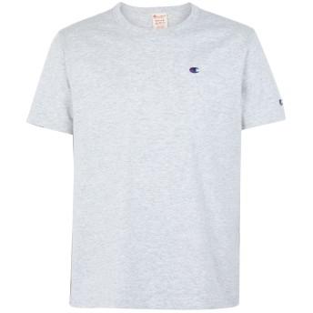 《期間限定セール開催中!》CHAMPION REVERSE WEAVE メンズ T シャツ ライトグレー S コットン 100% Crewneck T-Shirt