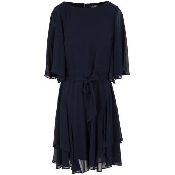 《9/20まで! 限定セール開催中》LAUREN RALPH LAUREN レディース ミニワンピース&ドレス ダークブルー 2 ポリエステル 100% RUFFLED GEORGETTE COCKTAIL DRESS