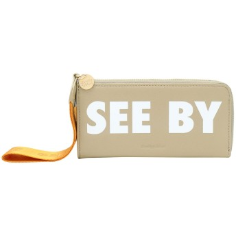 《期間限定セール開催中!》SEE BY CHLO レディース 財布 カーキ 100% 牛革 JORIS