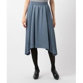 組曲 / クミキョク 【洗える】ヴィンテージサテンプリーツ スカート