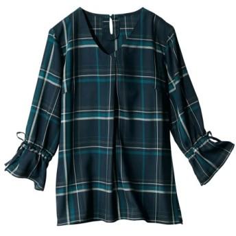 【大きいサイズ】 レーヨン100%うすカル柔らか7分袖ブラウス(薄手素材)  plus size shirts, テレワーク, 在宅, リモート