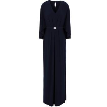 《セール開催中》LAUREN RALPH LAUREN レディース ロングワンピース&ドレス ダークブルー 6 ポリエステル 95% / ポリウレタン 5% BELTED CAPE JERSEY GOWN