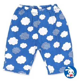 雲総柄ステテコ【80cm・90cm・95cm】[ ステテコ すててこ 半ズボン ハーフパンツ 部屋着 ルームパンツ パジャマ キッズ 子供 子ども こど