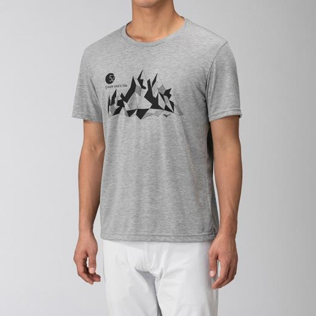 MIZUNO SHOP [ミズノ公式オンラインショップ] フィーリンテックグラフィックTシャツ[メンズ] 05 グレー杢 B2MA9057