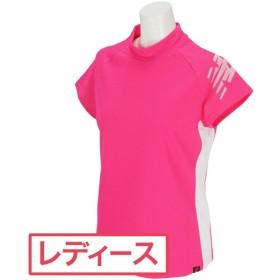 ニューバランス New Balance SPORT ソリッド×ゼブラエンボス 半袖モックネックシャツ レディス
