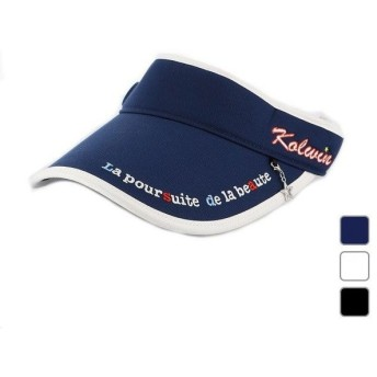 コルウィン レディース ゴルフ サンバイザー 帽子 KO-1C2079SV-T kolwin