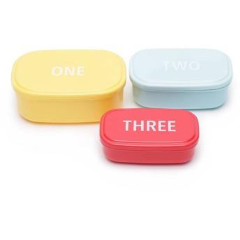 入れ子になる弁当箱 3個セット ホームコーディ 3個セット 容量(大480ml、中300ml、小180ml)