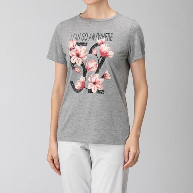 MIZUNO SHOP [ミズノ公式オンラインショップ] フィーリンテックグラフィック半袖Tシャツ[レディース] 05 グレー杢 B2MA9222