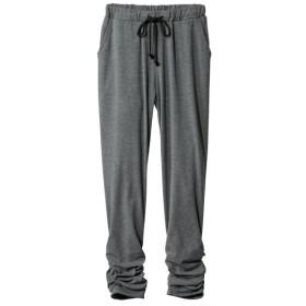 (吸汗速乾)カットソー裾デザインジョガーパンツ (大きいサイズレディース)パンツ