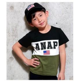 [マルイ]【セール】USAフラッグ切替Tシャツ/アナップキッズ&ガール(ANAP KIDS&GIRL)