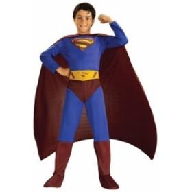 スーパーマン 公式ライセンス商品 キッズコスチューム 男の子 対象身長120cm-140cm 対象年齢8-9歳