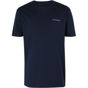 《セール開催中》COLUMBIA メンズ T シャツ ダークブルー S コットン 100% North Cascades Short Sleeve top