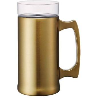 ON℃ZONE飲みごこちビールジョッキ ゴールド 420ml ステンレスタンブラー