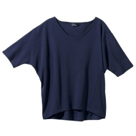 綿混ドルマントップス (大きいサイズレディース)Tシャツ・カットソー