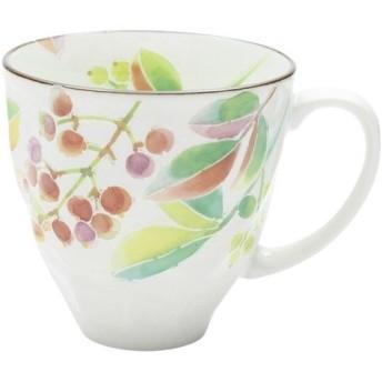 内祝い 内祝 お返し ギフト マグカップ 陶器 和藍 12ヶ月マグカップ 花ことば 南天 12月 南天