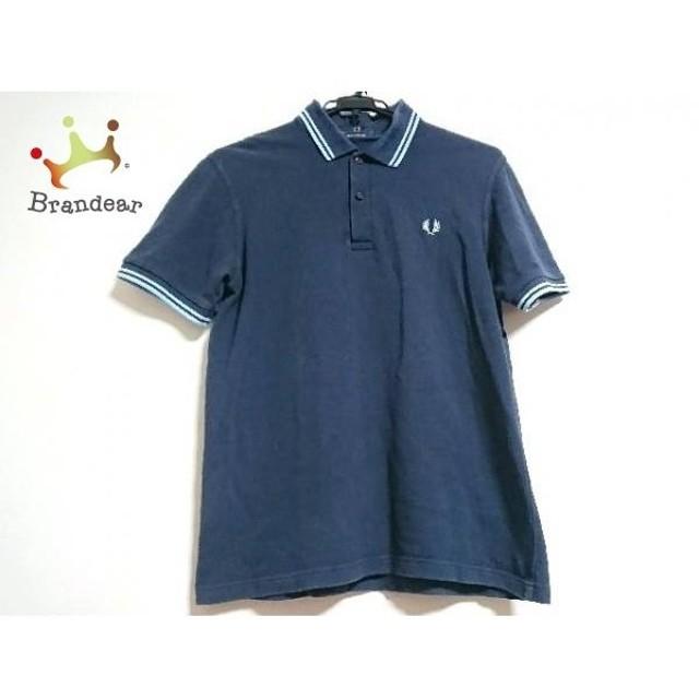 f7be3c162e97da フレッドペリー FRED PERRY 半袖ポロシャツ サイズ38 L レディース ネイビー×ライトブルー 新着 20190306