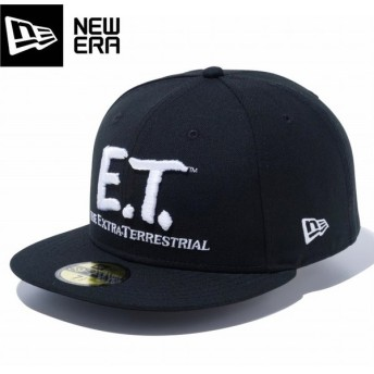 NEW ERA 59FIFTY E.T. LOGO ニューエラ 59FIFTY イーティー ロゴ BLACK/WHITE