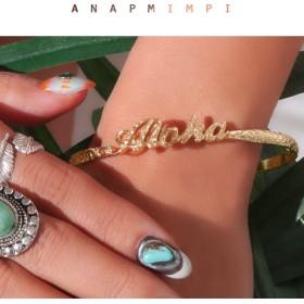 【セール開催中】ANAP(アナップ)Alohaハワイアンブレスレット