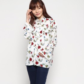 GUESS ゲス FLORAL WOVEN BLOUSE