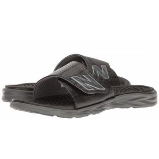 c72ae556577fb New Balance ニューバランス メンズ 男性用 シューズ 靴 サンダル Response Slide Black/Grey【送料
