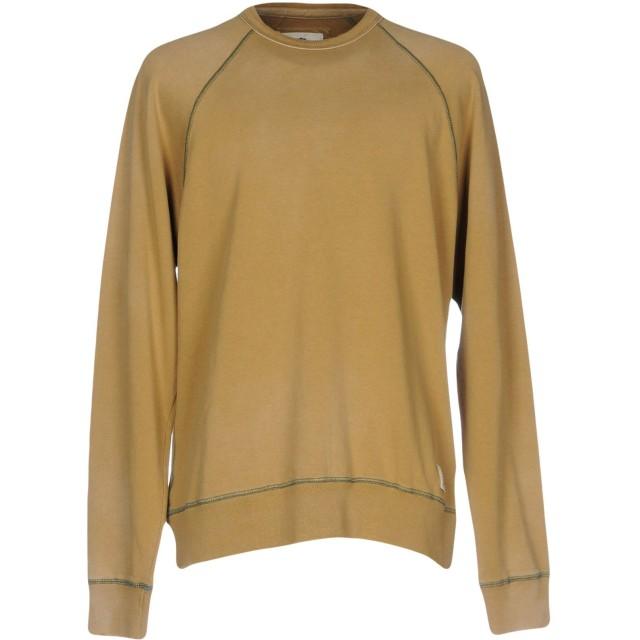 《期間限定セール開催中!》FRANKLIN & MARSHALL メンズ スウェットシャツ キャメル XS コットン 100%