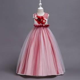 526a81134ad76 子供ドレス コンクール衣装 ピアノ発表会 結婚式 フォーマルドレス キッズドレス 女の子 可愛い ロング