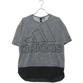 アディダス adidas レディース 半袖Tシャツ W ID 半袖ファブリックMIX オーバーサイズビッグロゴ Tシャツ DV0626