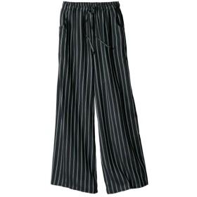 レーヨン100%うすカル柔らかワイドパンツ(薄手素材) (大きいサイズレディース)パンツ