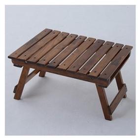 アウトドアテーブル TENT FACTORY ウッドライン グランドミッドテーブル 50.5×41.5 ブラウン