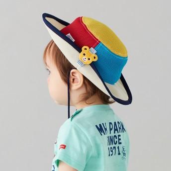 ミキハウス 日よけ付き ダブルラッセルテンガロンハット(帽子) マルチカラー