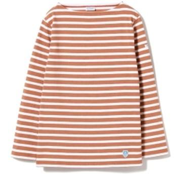 <WOMEN>ORCIVAL / コットンロード ボーダー フレンチ バスクシャツ レディース Tシャツ BROWN 1