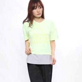 アディダス adidas レディース 半袖Tシャツ W ID 半袖ファブリックMIX オーバーサイズビッグロゴ Tシャツ DV0628