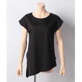 バケスタ スイムウェア サイドスリットTシャツ レディース ブラック LL 【VacaSta Swimwear】