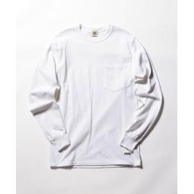 【51%OFF】 フレディアンドグロスター ポケット付 USシルエットロンスリーブTシャツ メンズ ホワイト S 【FREDY & GLOSTER】 【セール開催中】