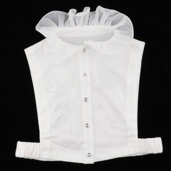 女性取り外し可能な偽の襟ハーフシャツブラウス偽偽ものの襟ネクタイ