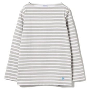 <WOMEN>ORCIVAL / コットンロード ボーダー フレンチ バスクシャツ レディース Tシャツ GREY 1