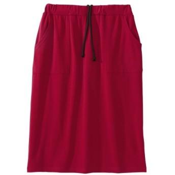 【大きいサイズ】 (吸汗速乾)カットソーベイカーデザインスカート スカート, plus size skirts
