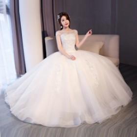 花嫁ドレスウェディングドレスウエディングドレスロングドレスベアトップロングドレス花嫁ドレスビスチェイブニングドレス結二次会