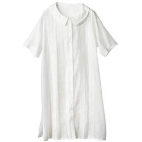 インド綿半袖チュニック薄手素材) (大きいサイズレディース)チュニック