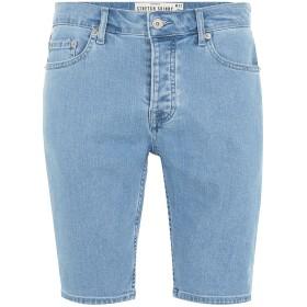 《期間限定セール開催中!》TOPMAN メンズ デニムバミューダパンツ ブルー 28 コットン 99% / ポリウレタン 1% BLEACH STRETCH SKINNY DENIM SHORTS