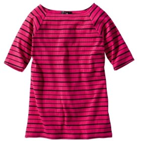 5分袖テレコ素材トップス (大きいサイズレディース)Tシャツ・カットソー