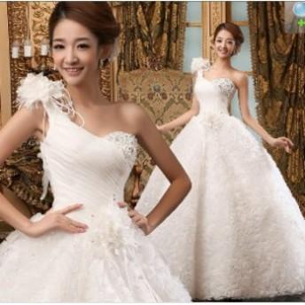 ウェディングドレスウエディングドレスベアトップ編み上げレース刺繍ドレスロングドレス花嫁ドレストランペット結婚式シング二次会